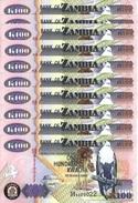 ZAMBIA 100 KWACHA 2010 P-38i UNC 10 PCS [ZM139j] - Zambie