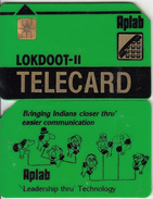 INDIA - Aplab Telecard(green-thick Plastic), Chip GEM1, Used - India