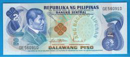 FILIPINAS - PHILIPPINES -  2 Piso ND SC  P-159  Numeros En Negro - Filipinas