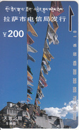 TIBET(Tamura) - Potala Palace, Lhasa City Telecom 200 Yuan, Tirage 20000, Mint