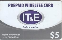 GUAM - IT&E Prepaid Card $5, Used - Guam