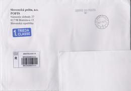 Slovakia - Slovaquie Registered Letter From Bratislava To Japan - Bar Code 2016 - Plaatfouten En Curiosa