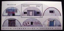 ICELAND #1000. 250k, Stamp Day - Quonset Hut.  Miniature Souvenir Sheet. MNH (**) - 1944-... Republic
