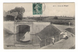 NIÈVRE  /  ECLUSE  DE  MINGOT ( Canal, Batellerie, Enfants, Ombrelle ) / Cl. HAVOUE  ( Cachet De CHATILLON-en-BAZOIS ) - Frankrijk