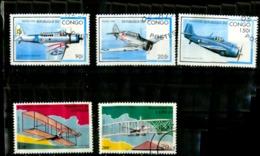 Congo Scott N° 1127.1128.1129.1051.1052. Oblitérés - Congo - Brazzaville