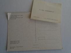 D145998 Victor Vasarely,   Vega-Bule  -1968 -Vasarely  Museum Pécs Hungary - + Vasarely  Name Card Arcueil - Arts