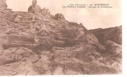 35 - Rothéneuf - Les Rochers Sculptés - Groupe De Sculptures - Rotheneuf