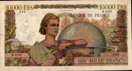 FRANCE 10000 FRANCS GENIE FRANCAIS Du 6-11-1952  Pick 132d  F 50/61 XF/SUP - 1871-1952 Gedurende De XXste In Omloop