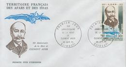 Enveloppe  FDC  1er  Jour  TERRITOIRE  FRANCAIS   Des   AFARS  Et  ISSAS    Clément  ADER   1975
