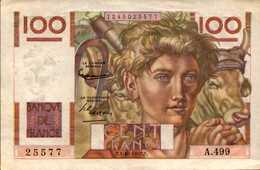FRANCE 100 FRANCS JEUNE PAYSAN Du 2-10-1952 Pick 128e?  F 28/34 XF/SUP - 1871-1952 Anciens Francs Circulés Au XXème