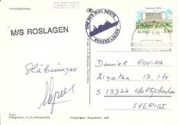 CARD  PAQUEBOT 1989 - Aland