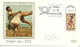 FDC ESPAÑA  LUCHA 1976