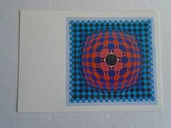 D146006  Victor Vasarely,  Vega-sakk Chess Schach  1969  -Vasarely  Museum Pécs Hungary - Hungarian  Postcard 1986 - Fine Arts