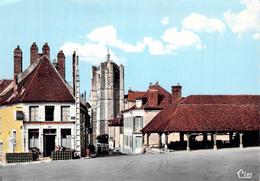 Carte Postale Semi Moderne Seignelay L'église Et La Halle  89 Yonne - Hery