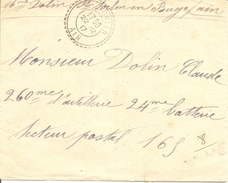 AIN ENV OBLI ST SORLIN (PERLE) Pour SECTEUR POSTAL - Postmark Collection (Covers)