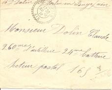 AIN ENV OBLI ST SORLIN (PERLE) Pour SECTEUR POSTAL - 1877-1920: Semi Modern Period
