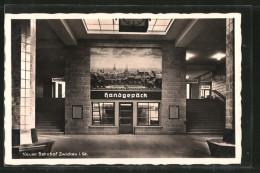 AK Zwickau, Neuer Bahnhof, Wartehalle - Zwickau