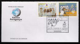 OLYMMPICS-2010-PARAGUAY-TENNIS-ATHLETES-FDC- - Non Classés