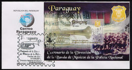 MUSIC-NATIONAL POLICE BAND,CENT.2012-PARAGUAY-FDC- - Paraguay