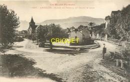 65 Argelès, Place Du Foirail Et Route D'Azun, Vieille Pompe à Essence, Carte Pas Courante - Argeles Gazost