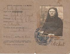 Ww1 Carte D'identité Pour Paiement Des Pentions Dame Acezat Achet 66 Amélie Veuve Catalane - Cartes