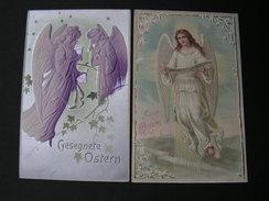 2 Karten Litho Engel , 1 Mit Bug  Aud Bosnien Banjaluka Ca. 1910 - Engel