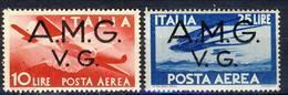 Trieste VG Zona A Posta Aerea 1945 - 47 N. 5 L. 10 E N. 6 L. 25 MNH Cat. € 7 - 7. Triest