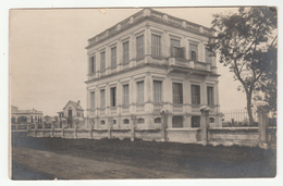 """HANOÎ  - Carte-Photo Datée 1907 - """"La Maison"""", Annotation Manuscrite Au Verso - 2 Scans - Viêt-Nam"""