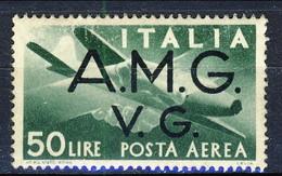 Trieste VG Zona A Posta Aerea 1945 - 47 N. 8 L. 50 MNH Cat. € 8 - 7. Triest