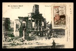 55 - SOMMEILLES -  GUERRE 14/18 - VILLAGE DETRUIT - CACHET ET VIGNETTE JOURNEE DE LA MEUSE - France