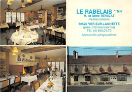 """¤¤  -  VER-sur-LAUNETTE  - Carte Publicitaire Du Restaurant """" LE RABELAIS """"    -  ¤¤ - Other Municipalities"""