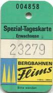 Schweiz - Bergbahnen Flims - Spezial-Tageskarte - Bahn