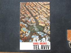 ISRAEL PALESTINE TEL AVIV EL AL ELAL AIRLINE PICTURE POSTCARD PHOTO POST CARD PC STAMP - Cartoline