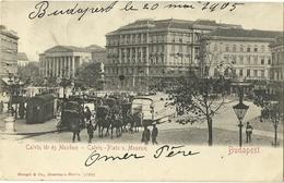 BUDAPEST CALVIN PLATZ U. MUSEUM EN 1905  VOIR TIMBRE + CACHET EN DIRECTION DE HAINE ST PIERRE - Hungary