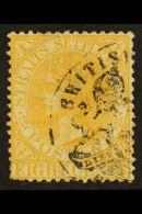 BRITISH P.O. IN SIAM 1882 Straits Settlements 8c Orange-yellow, Showing Part British Consulate Bangkok Cancel, SG... - Thailand