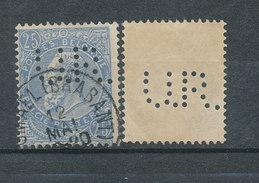 Léopold II- 25c - Perforé UR - 1893-1900 Fine Barbe