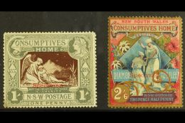 "NEW SOUTH WALES 1897 Diamond Jubilee/ Hospital Charity ""SPECIMEN"" Set, SG 280s/81s, 1s With Tiny Corner Thin &... - Australia"