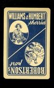 Speelkaart ( 0138 ) 1 Losse Kaart - Publicité Reclame  Wijn Likeur Liqueur Distillerie Stokerij - Williams & Humbert - Barajas De Naipe