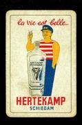 Speelkaart ( 0146 ) 1 Losse Kaart - Publicité Reclame  Wijn Likeur Liqueur Distillerie Stokerij -  HERTEKAMP - Barajas De Naipe