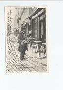 LES PETITS METIERS PARISIENS LE MARCHAND D'ARTICLES DE CAVES (H LLAS ET PECAUD ET CIE PARIS) 1906 - Petits Métiers à Paris