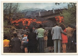 TAORMINA, Destruction Of A Bridge By Lava, Used Postcard [19453] - Unclassified