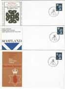Groot Brittanië FDC Regionale Uitgaven Schotland-N.Ireland- Wales - 1971-1980 Em. Décimales