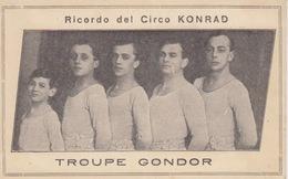 "CARTONCINO FORMATO CARTOLINA - ""RICORDO DEL CIRCO LONRAD-TROUPE GONDOR"" - Postkaarten"