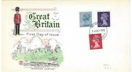 Groot Brittanië FDC Windsor Castle 24-10-1973 - 1971-1980 Em. Décimales