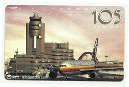Giappone - Tessera Telefonica Da 105 Units T220 - NTT, - Avions