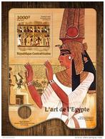 CENTRALAFRICA 2016 ** Egypt Art Ägyptische Kunst S/S - OFFICIAL ISSUE - A1645