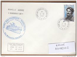 """TAAF KERGUELEN PLI 2 - 9 2007 INAUGURATION DE LA """"NOUVELLE AURORE""""  TB VOIR PHOTO."""