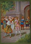 Assez Grande Chromo Dos Vierge - Scène En Costume D'époque Louis XIII - Unclassified