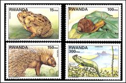 Rwanda 1407/10** Faune Du Rwanda MNH - Rwanda