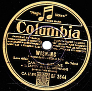 78 T.- 25 Cm - état B - CARROLL GIBBONS - WISHING - SING, MY HEART - 78 G - Dischi Per Fonografi